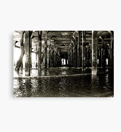 Under the Pier (Clacton) Canvas Print