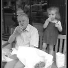 grandpa and granddaughter  by Danny  Daly