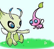 Celebi meets Flying Pikmin by Daniel Bonney