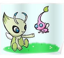 Celebi meets Flying Pikmin Poster
