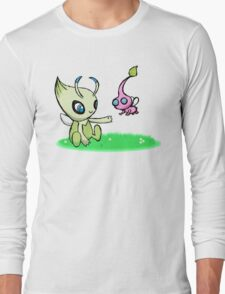 Celebi meets Flying Pikmin Long Sleeve T-Shirt