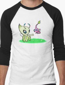 Celebi meets Flying Pikmin Men's Baseball ¾ T-Shirt