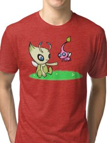 Celebi meets Flying Pikmin Tri-blend T-Shirt