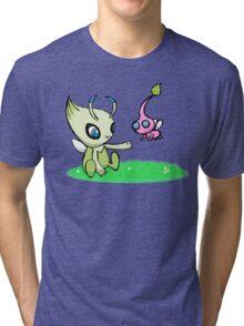 Celebi meets Flying Pikmin Tri-blend T-Shirt