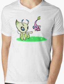 Celebi meets Flying Pikmin Mens V-Neck T-Shirt
