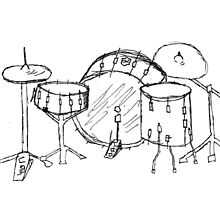 Drum kit drawing by mydirtyface