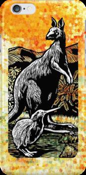 Kangaroo and Kiwi by KenRinkel