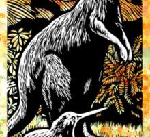 Kangaroo and Kiwi Sticker