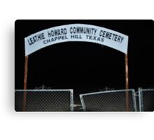 Lethie Howard Community Cemetary Canvas Print