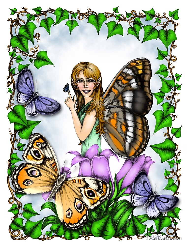 The Butterfly Fairy by TASIllustration