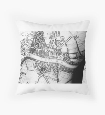 Body Maps - Ancient London - Torso Throw Pillow