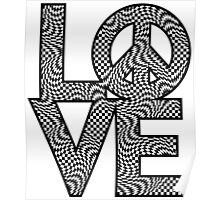Checkered LOVE=Peace Poster