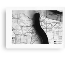 Body Maps - Tube Map - Back Canvas Print