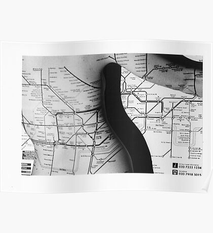 Body Maps - Tube Map - Back Poster