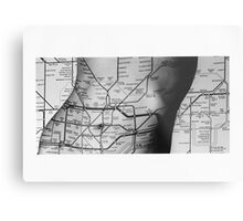 Body Maps - Tube Map - Torso Metal Print