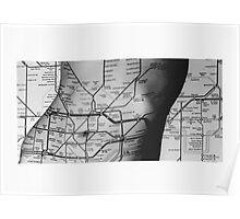 Body Maps - Tube Map - Torso Poster