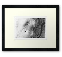 Body Maps - Mixed Maps - Torso Framed Print