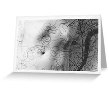 Body Maps - Mixed Maps - Torso Greeting Card