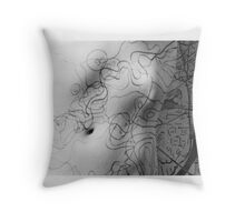 Body Maps - Mixed Maps - Torso Throw Pillow