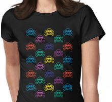 Rainbow Skull  Womens Fitted T-Shirt