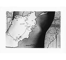 Body Maps - Afghanistan - Torso Photographic Print