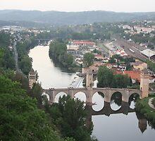 Valentre bridge (Cahors, France) by Christine Oakley