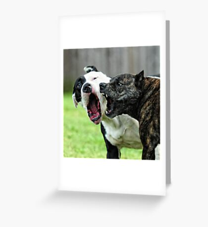 My mouth is bigger than yours Greeting Card