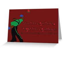Street Fighter 3  Dudley  Greeting Card