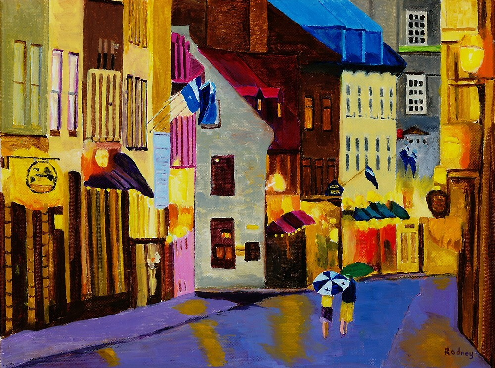 Old Towne Quebec by Rodney Campbell