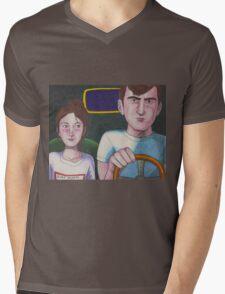 Kids In Cars Mens V-Neck T-Shirt