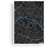 Paris city map black colour Canvas Print