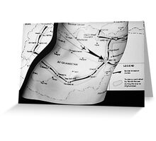 Body Maps - Afghanistan Routes - Torso Greeting Card