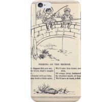 Miniature Under the Window Pictures & Rhymes for Children Kate Greenaway 1880 0045 Fishing on the Bridge iPhone Case/Skin