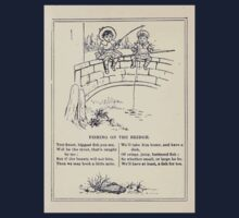 Miniature Under the Window Pictures & Rhymes for Children Kate Greenaway 1880 0045 Fishing on the Bridge One Piece - Long Sleeve