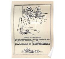 Miniature Under the Window Pictures & Rhymes for Children Kate Greenaway 1880 0045 Fishing on the Bridge Poster