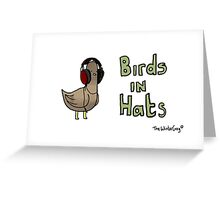Birds in hats! Greeting Card