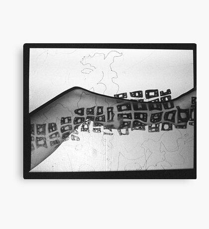 Body Maps - Mixed Map - Leg Canvas Print