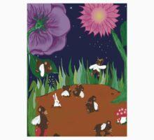 Fairy bear garden by WindingVines