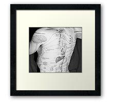 Body Maps - Body - Back Framed Print