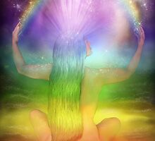 Crown Chakra Goddess by Carol  Cavalaris