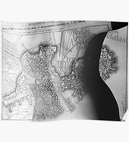 Body Maps - 19th C Boston - Back Poster