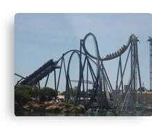 The Incredible Hulk Coaster Metal Print