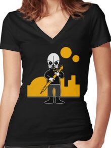 Figrin D'an (Mos Eisley Cantina - Star Wars) Women's Fitted V-Neck T-Shirt