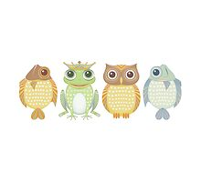 Fish Frog Owl Fish by Jean Gregory  Evans