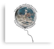 Neil Armstrong, Moon Walking Canvas Print