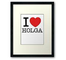 I ♥ HOLGA Framed Print