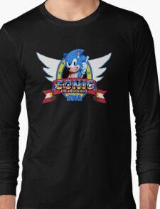 Sonic Logo - pixel art Long Sleeve T-Shirt