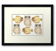 Friendly Fish & Big-Eyed Cats Framed Print