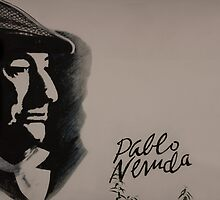 Mural Of Nobel Laureate Poet Pablo Neruda by Al Bourassa