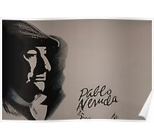 Mural Of Nobel Laureate Poet Pablo Neruda Poster